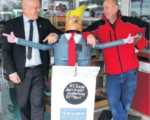 A Donald Trump scarecrow is heading a campaign to ''make Tapanui great again'', helped by Clutha...