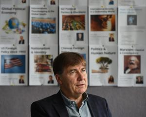 University of Otago's Prof Robert Patman says increasing tension between North Korea and United States is worrying. Photo by Gregor Richardson.