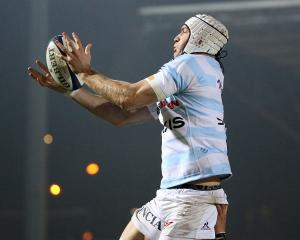 Ali Williams in action for Racing 92. Photo Getty