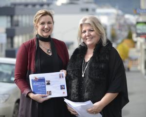 Inaugural Inspire Dunedin event organiser Sandra Spence (left) and Essence Charitable Trust...