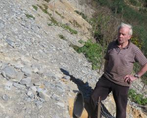 Former Moeraki resident Bill Pile wants the Waitaki District Council to examine the pipe network...