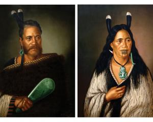 Paintings of Chieftainess Ngatai - Raure and Chief Ngatai-Raure were stolen this morning. Photo:...