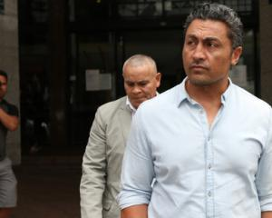 Rene Naufahu (46) today abandoned his bid to keep his name a secret. Photo taken outside court...