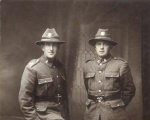 Rifleman James Cooney (right) with fellow soldier William Maurice while on leave. Photo: Supplied