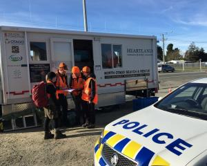 Searchers are looking for a missing Hampden man. Photo NZ Police