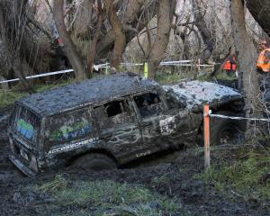 A 4WD driver tries to break his vehicle free from a sticky situation at the South Island Winch...