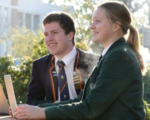 Jack McLaughlan and Isabelle Keeling (both 16) are enjoying studying agribusiness. Photo: Gerard...