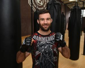 MMA fighter Brogan Anderson prepares for the biggest fight of his career at a gym in Mosgiel...