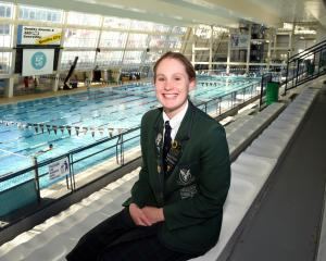 Columba College pupil Caitlin Deans (17) back at Moana Pool yesterday after having been away in...