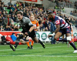 Jed Brown of the Crusaders scored a try. Photo: Getty
