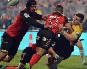 The Crusaders defence suffocated the life out of the Hurricanes. Photo: Getty