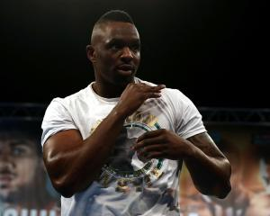 Dillian Whyte before his last fight. Photo: Getty Images