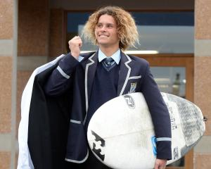 Surfer Elliott Brown (17). Photo: ODT.
