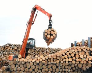 Logs are helping lift New Zealand commodity prices. Photo: Stephen Jaquiery.