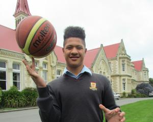 Waitaki Boys' High School basketballer Nale Fifita is aiming for the top. Photo: Hayden Meikle.