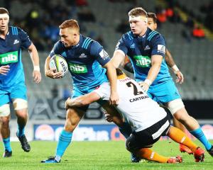 Ihiaia West on the charge for the Blues against the Cheetahs. Photo Getty Images