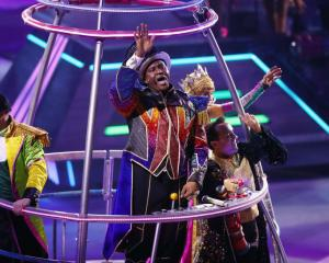 Ringmaster Jonathan Lee Iverson performs in the closing number on the final day of the Ringling...