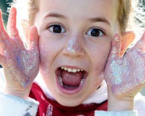 Penny Barr (5) and her Whangarei Heads School classmates learned how germs spread. Photo: NZ...