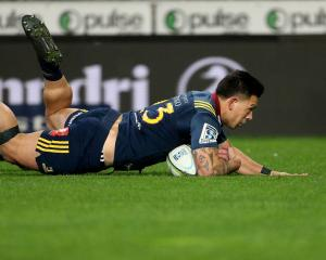 Rob Thompson of the Highlanders scored a try. Photo: Getty