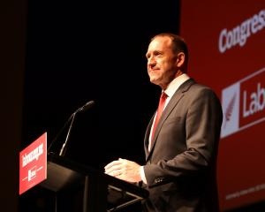 Labour Party leader Andrew Little delivers his keynote speech on housing issues at the Labour...