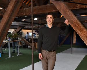 The Tarn Group chief executive James Nation in the company's new premises in Princes St. PHOTO:...