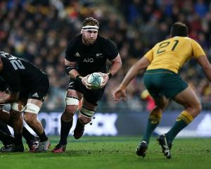 Kieran Read carries the ball for the All Blacks against the Wallabies. Photo: Getty Images