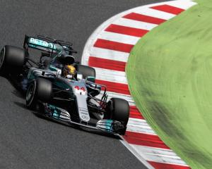 Lewis Hamilton on the way to his win. Photo: Getty Images