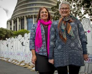 Life Matters Suicide Prevention Trust member Denise Kent (left) and trust chairwoman Corinda...