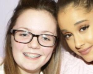 Manchester attack victim Georgina Callander pictured with Ariana Grande at a concert two years...