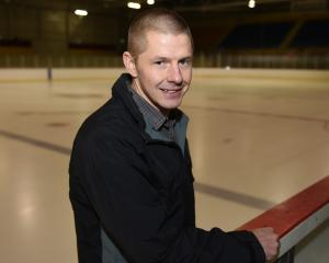 New Dunedin Thunder coach Matt Hladum at the Dunedin Ice Stadium yesterday. Photo: Gregor...