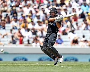 Neil Broom was key in helping the Black Caps with the bat. Photo: Getty Images