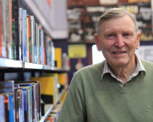 New Zealand author Owen Marshall returns to Waitaki Boys' High School where he taught for 20 years before becoming a full-time writer. Photo: Hamis MacLean.
