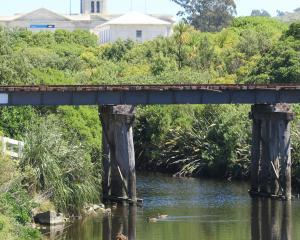 The old Oamaru Creek bridge. Photo: Hamish MacLean.