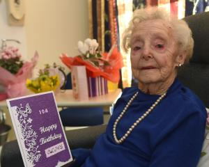 Olive Ford celebrates her 104th birthday yesterday. PHOTO: GREGOR RICHARDSON