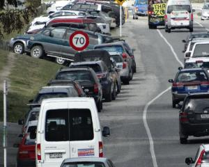 Cars will be banned from parking along Kawarau Rd from next month. Photo: ODT.