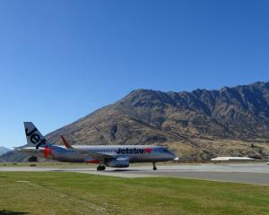 A Jetstar Airbus A320 at Queenstown Airport. PHOTO: ODT FILES