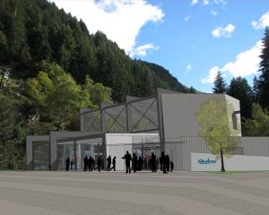 An artist's impression of Skyline Queenstown's proposed new lower terminal. Image: supplied.