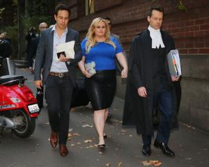 Actor Rebel Wilson leaves the Melbourne Supreme Court. Photo: Getty