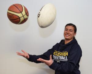 Otago basketball and sevens player Soraya Umaga-Jensen. Photo: Gregor Richardson.