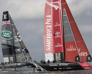 Team New Zealand is preparing to begin practice racing. Photo: Getty Images