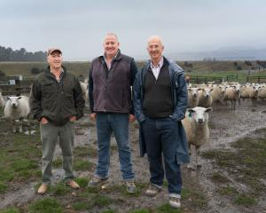 Egilshay Texel Stud breeder Alistair McLeod (left), Queensbury Ridges Station sheep manager,...