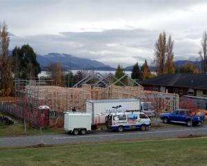 One of the many new homes in Wanaka starts to take shape in Greenbelt Pl. Wanaka and the rest of...