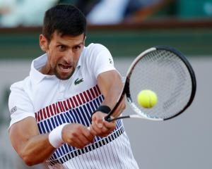 Novak Djokovic in action against Albert Ramos-Vinolas. Photo: Reuters
