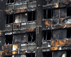 Damage to Grenfell Tower following the catastrophic fire.  REUTERS/Peter Nicholls