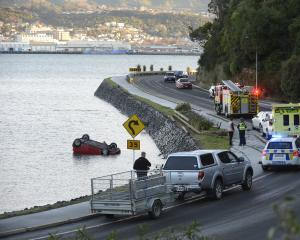 Emergency services at the scene of the crash. Photo by Gerard O'Brien