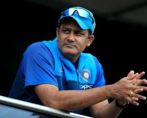 Anil Kumble at the recent ICC Champions Trophy. Photo: Getty Images