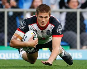 Blake Ayshford of the warriors scores a try. Photo: Getty