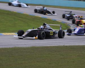 Brendon Leitch, of Cromwell, in action in his Formula 4 race car at the series' first round in...
