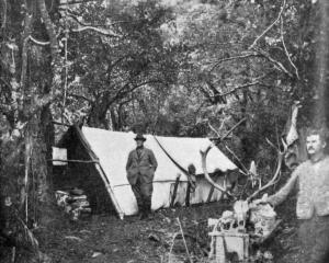 A camp at Cameron's Flat, Makarora.— Otago Witness, 27.6.1917.