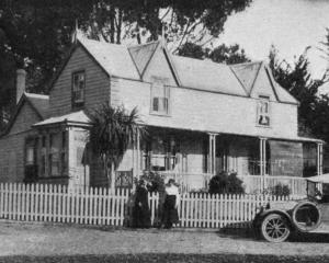 The residence of Mrs Robert Cullen and her daughter, at Allanton, on the Taieri Plain. Two sons...